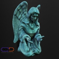 ContemplatingAngel1.jpg Download free STL file Contemplating Angel Sculpture (Statue 3D Scan) • 3D printable object, 3DWP