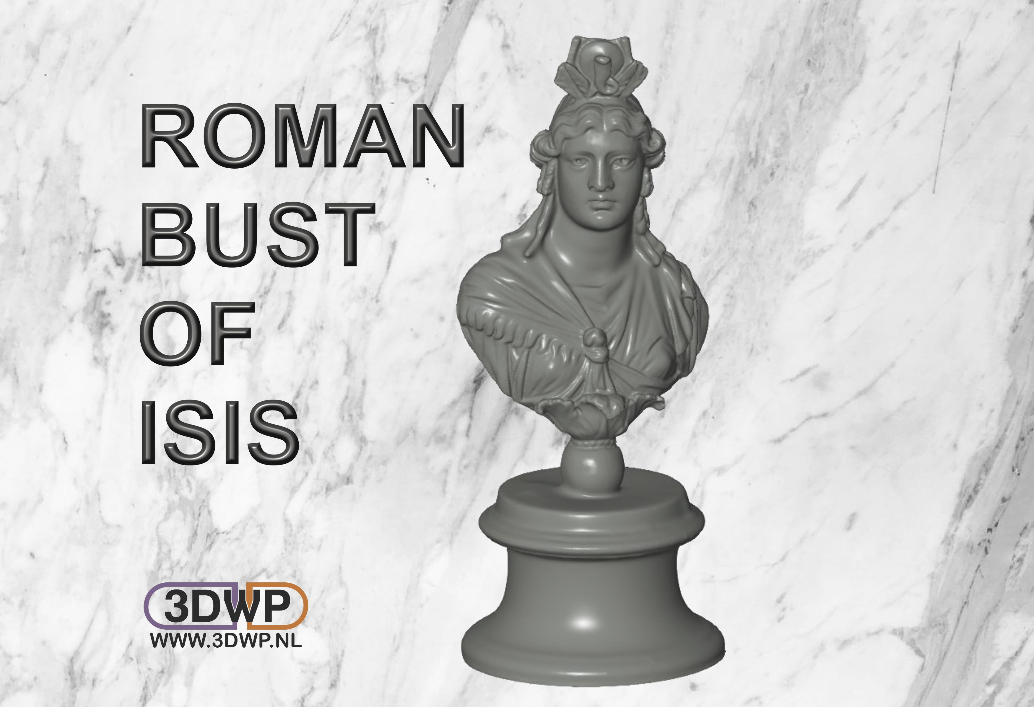 RomanBustOfIsis.jpg Télécharger fichier STL gratuit Buste romain d'Isis • Objet pour impression 3D, 3DWP