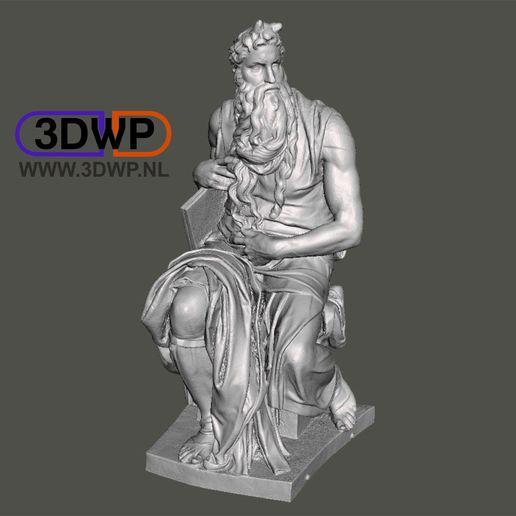 Download free STL file Moses By Michelangelo Sculpture (Statue 3D Scan) • 3D printable design, 3DWP