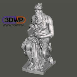 Download free STL file Moses By Michelangelo Sculpture (Statue 3D Scan) • 3D printable design, 3DWP