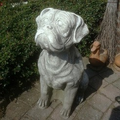 BoxerStatue.jpg Download STL file Boxer Statue (Dog Sculpture 3D Scan) • 3D print model, 3DWP