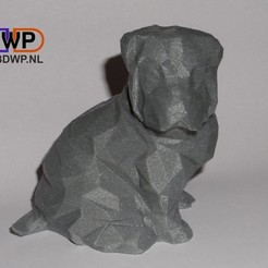 LP1.jpg Download STL file Low Poly Shar Pei Puppy (Dog Statue) • 3D printing object, 3DWP