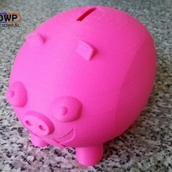 Download free 3D printer designs Printable Piggy Bank, 3DWP