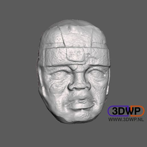 Download free 3D printing designs Olmec Head Wall Hanger, 3DWP