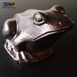 Download free STL file Frog Sculpture 3D Scan • Design to 3D print, 3DWP