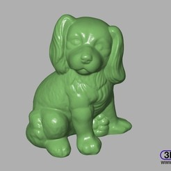 Download STL file Dog Sculpture 3D Scan • 3D printable template, 3DWP
