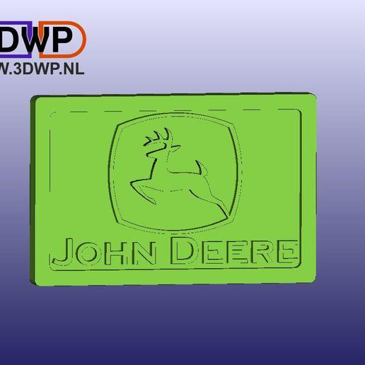 JohnDeere.JPG Télécharger fichier STL gratuit Cintre mural avec plaque au logo de John Deere • Modèle pour imprimante 3D, 3DWP