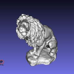 Download free STL file Lion Sculpture (3D Scan) • Template to 3D print, 3DWP