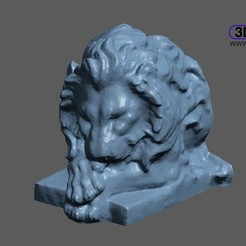 LionStatueHalf.JPG Download free STL file Lion Statue 3D Scan • 3D printer object, 3DWP