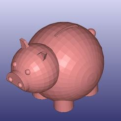 Download free 3D model Piggy Bank, 3DWP
