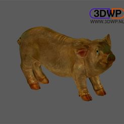 Download free 3D printer templates Pig Sculpture 3D Scan, 3DWP