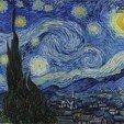 Download free STL Vincent van Gogh - Starry Night Lithophane, 3DWP
