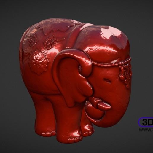 Télécharger fichier STL gratuit Sculpture d'éléphant • Modèle pour imprimante 3D, 3DWP