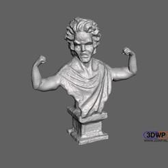 Descargar archivos 3D gratis Busto de Mozart en carne viva, 3DWP