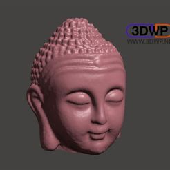 Download free STL file Buddha Head 3D Scan (Made Hollow), 3DWP