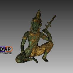 Download free 3D printer model Indian God Sculpture 3D Scan, 3DWP