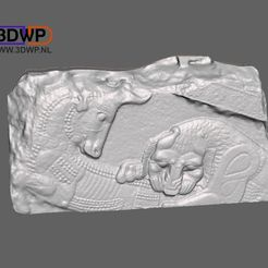 Relief.jpg Download free STL file Assyrian Relief 3D Scan • 3D print design, 3DWP