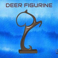 Deer_Figurine.jpg Télécharger fichier STL gratuit Figurine de cerf • Modèle imprimable en 3D, 3DWP