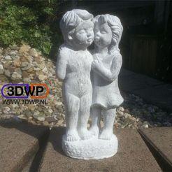 Descargar diseños 3D Escaneo 3D de la estatua del niño y la niña, 3DWP