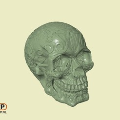 Download free STL files Celtic Skull (Hollow), 3DWP