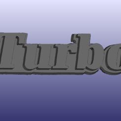 Turbo_badge_R11.PNG Télécharger fichier STL gratuit Insigne Renault 11 Turbo (R11) • Plan à imprimer en 3D, 3DWP