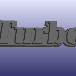 Turbo_badge_R11.PNG Download free STL file Renault 11 Turbo Badge (R11) • Design to 3D print, 3DWP