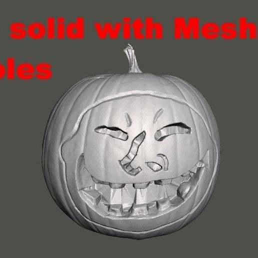 pumpkin2.jpg Download free STL file Halloween Pumpkin With Face (3D Scan) • 3D print object, 3DWP