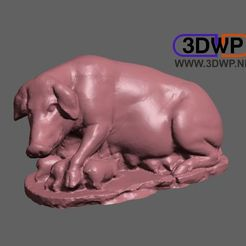 TheLaurentianSow.jpg Télécharger fichier STL gratuit La truie des Laurentides (scan 3D de la statue romaine) • Design imprimable en 3D, 3DWP