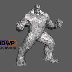 Hulk.jpg Download free STL file Hulk Low Poly • Template to 3D print, 3DWP