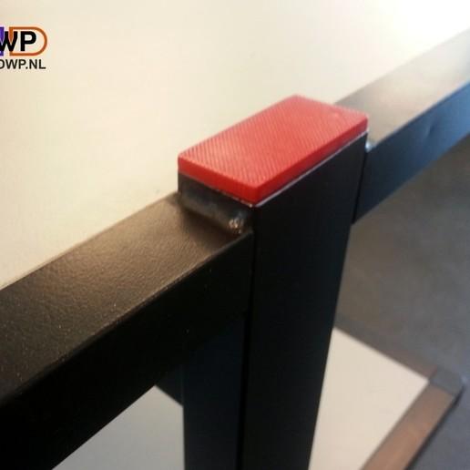 Télécharger fichier imprimante 3D gratuit Embout de tube rectangulaire 25X50 mm (Bouchon de tube), 3DWP