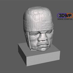 Olmec1.JPG Download free STL file Olmec Head 3D Scan • 3D print template, 3DWP
