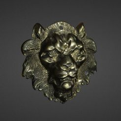 MetalLionHead.jpg Download free STL file Metal Lion Head 3D Scan • 3D printing design, 3DWP