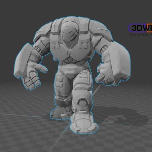 Télécharger fichier STL gratuit Hulkbuster (Iron Man) • Objet imprimable en 3D, 3DWP