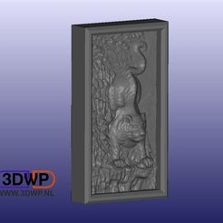 BasRelief.JPG Download free STL file Hanoi Tiger Vietnam Wall Hanger (Bas Relief 3D Scan) • 3D print design, 3DWP