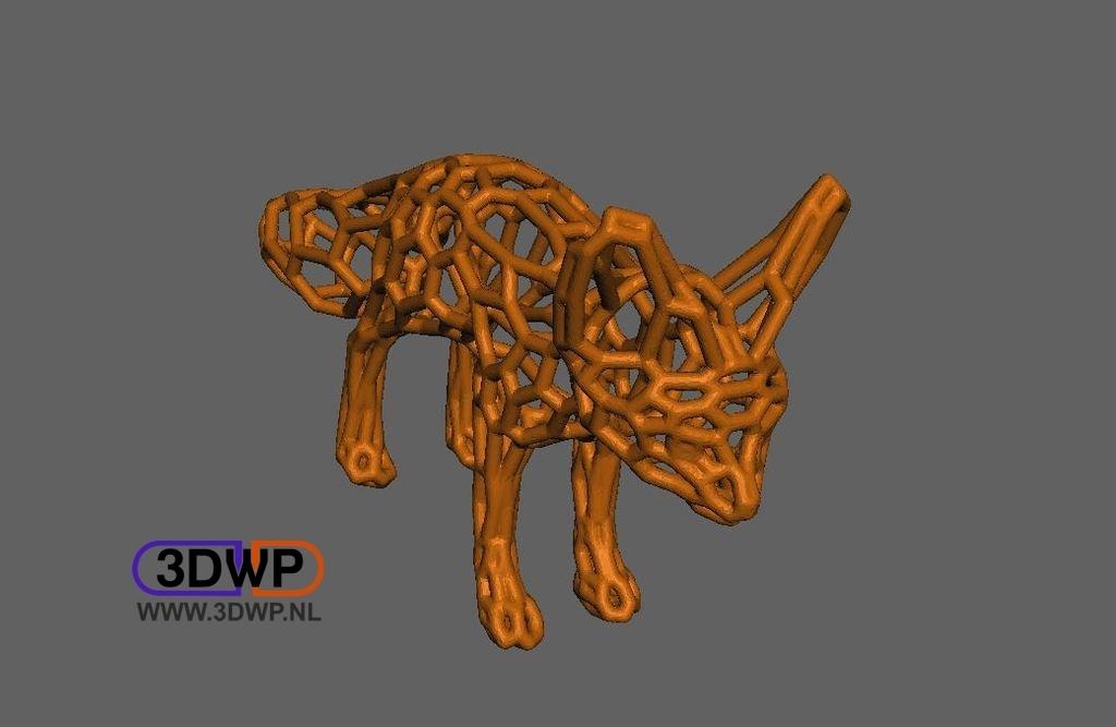 FennecFox.jpg Télécharger fichier STL gratuit Fennec Fox Pattern (Style Voronoi) • Plan pour impression 3D, 3DWP
