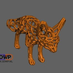 Download free 3D printer files Fennec Fox Pattern (Voronoi Style), 3DWP