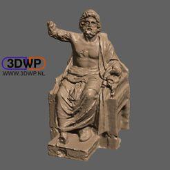 Zeus1.jpg Download free STL file Zeus Sculpture (Statue 3D Scan) • 3D printing object, 3DWP