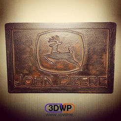 Download free 3D print files John Deere Logo Plaque Wall Hanger, 3DWP