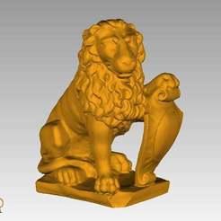 LionOrnament.jpg Télécharger fichier STL gratuit Ornement de lion • Modèle à imprimer en 3D, 3DWP