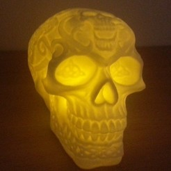 CelticSkull.jpg Download free STL file Celtic Skull (Hollow) • 3D printable template, 3DWP
