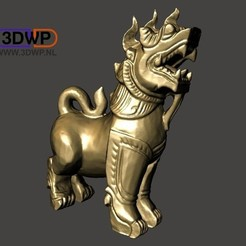 FuDog.jpg Download STL file Fu Dog Statue 3D Scan (Chinese Guardian Lion/Thai Lion Singha Wood Carving Sculpture) • Object to 3D print, 3DWP