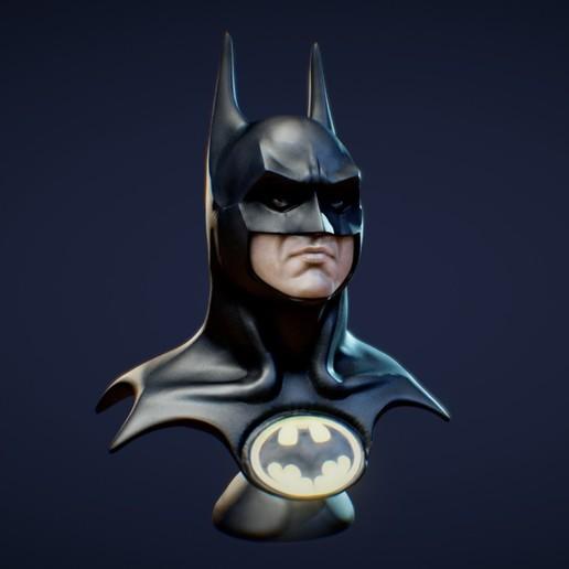 Batman.jpg Download STL file Batman 1989 Bust (Michael Keaton) • 3D printable object, 3DWP