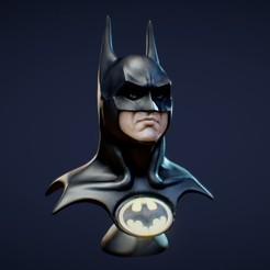 Download STL file Batman 1989 Bust (Michael Keaton) • 3D printable object, 3DWP