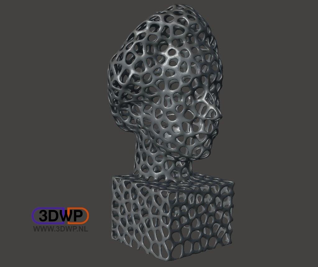 EinsteinVoronoi.jpg Download free STL file Einstein Bust (Voronoi Style) • Object to 3D print, 3DWP