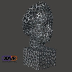 Download free STL file Einstein Bust (Voronoi Style) • Object to 3D print, 3DWP