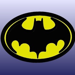 Batman1989Logo.JPG Download free STL file Batman 1989 Logo • Object to 3D print, 3DWP