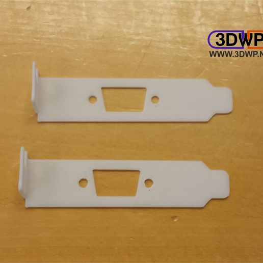 Bracket1.jpg Télécharger fichier STL gratuit Couvercle de fente PCI à profil bas (VGA) • Modèle à imprimer en 3D, 3DWP