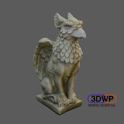 Griffin.JPG Download STL file Griffin Sculpture (Griffon 3D Scan) • 3D printable design, 3DWP