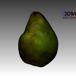 Download free 3D print files Pear (Color 3D Scan), 3DWP