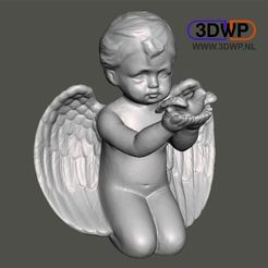 Download free STL Angel Sculpture (Statue 3D Scan), 3DWP